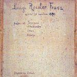 Retro della tela con il ritratto di Luigi Roesler Franz eseguito da Chiari