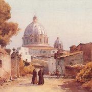 San Pietro dalla via Aurelia Antica