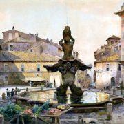 Piazza Barberini – La Via del Tritone al fondo