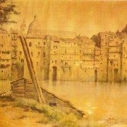 Dai Prati di Castello – Le vecchie case della Via di Torre di Nona sul Tevere