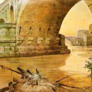 """Il Ponte Senatorio detto """"Ponte Rotto"""", il Ponte Cestio, in fondo il Ponte Sisto"""