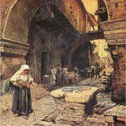 Il Portico d'Ottavia guardando a sinistra (1887)