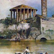 Il Tempio d'Ercole e la Cloaca Massima dal Tevere