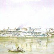 La Ripa Romea (dal porto di Ripa grande al ponte Senatorio, o Rotto) – vecchie case medievali