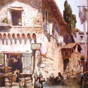 Gruppo di vecchie Case Medievali alla Longaretta angolo di Via della Luce