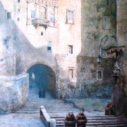 Gradinata di S. Francesco di Paola e la Casa dei Cesarini detta della Vannozza