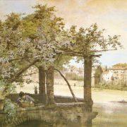 Terrazza presso il Ponte Sisto su mura Romane