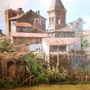 Avanzi delle case, e fortezza, dei Conti di Anguillara (dalle Sponde della Regola)