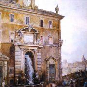 La Fontana dell'Acqua Paola presso il ponte Sisto