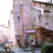 La Torre della famiglia Margana (1350) ed ingresso al Palazzo, costruito con frammenti antichi
