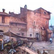 Case medievali sulla piazza di S. Cecilia