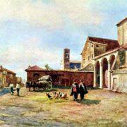 S. Sabina sull'Aventino (1500) al fondo dal lato destro il Campanile di S.Alessio