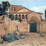 Ingresso alla Chiesa di S. Saba (1200) sulle falde dell'Aventino