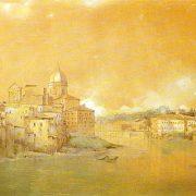 Veduta di S. Giovanni de' Fiorentini, dall'Ospedale di S. Spirito)