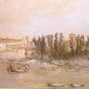 Il giardino e l'ospedale di S. Spirito dal lato del Tevere – Vestigie del Ponte Trionfale