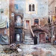 Avanzo di casa medievale in via Rua nel Ghetto