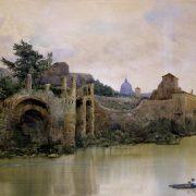 Dal Ponte Sisto. Avanzi di mura romane e medievali di sostegno ai giardini della Farnesina