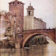 La Torre dei Caetani detta della Contessa Matilde presso il Ponte Fabricio