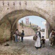 Arco dei Tolomei (1358) presso la chiesa di S. Cecilia