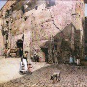 La Torre dei Pierleoni, dalla Via del Ricovero e all'angolo di Via Montanara