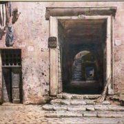 Via della Lungaretta – Ingresso al Palazzo Mattei