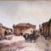 La via della Salara presso Marmorata – La via di Porta Leone (sul Tevere) a sinistra – Il Campanile di S.M. in Cosmedin in fondo a destra
