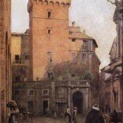 Torre dei Frangipane detta della Scimmia (1450) in Via dei Portoghesi