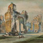 GIUSEPPE ROESLER FRANZ - Terme di Caracalla, 1850