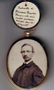 Foto del fratello Francesco m. nel 1875 con autografo di Ettore 1