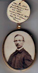 Foto del fratello Francesco m. nel 1875 con autografo di Ettore 2