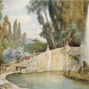La fontana dei draghi a Villa d'Este - Tivoli