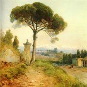 La via Tiburtina con San Lorenzo fuori le mura