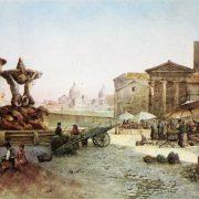 Mercato al Foro Boario presso il Tempio di Vesta