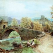Ponte di S. Francesco guardando Subiaco