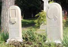 Le tombe di Keats e Severn al Cimitero Acattolico di Roma alla Piramide