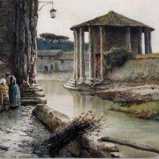 Nei pressi del tempio di Vesta dopo l'inondazione del Tevere a Roma, 1871