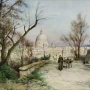 San Pietro e la salita verso il Gianicolo