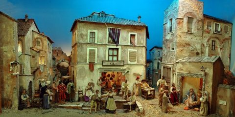 Veduta d'insieme Presepio Sarteano